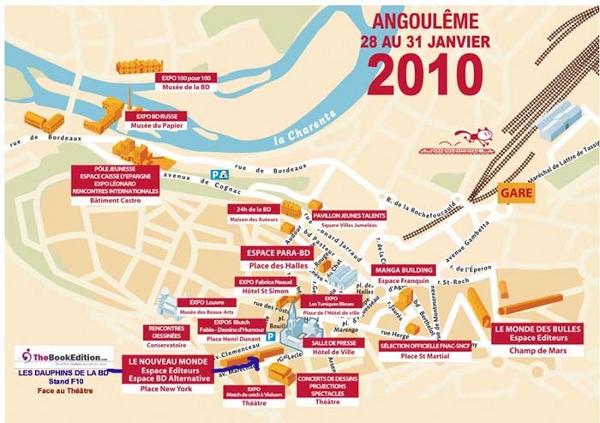 Situation du stand TheBookEdition/ADBD au FIBD Angoulême 2010